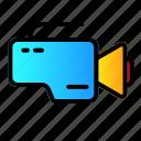 camera, device, record, video icon