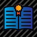 archievement, book, school icon