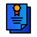 archievement, certificate, school icon