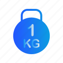 bodybuilding, fitness, gym, kettlebell icon