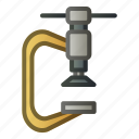 clamp, craftsman, press, tools, wood icon