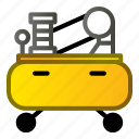 air, compressor, machine, presure, pump icon