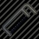 carpenter, hacksaw, metal, saw, tool