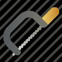 hacksaw, metal, saw, tool, tools