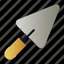 cement, equipment, shovel, trowel, work