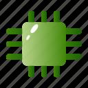 chip, micro, microprocessor, processor icon