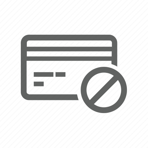 block, credit card, e business, error, payment, warning icon
