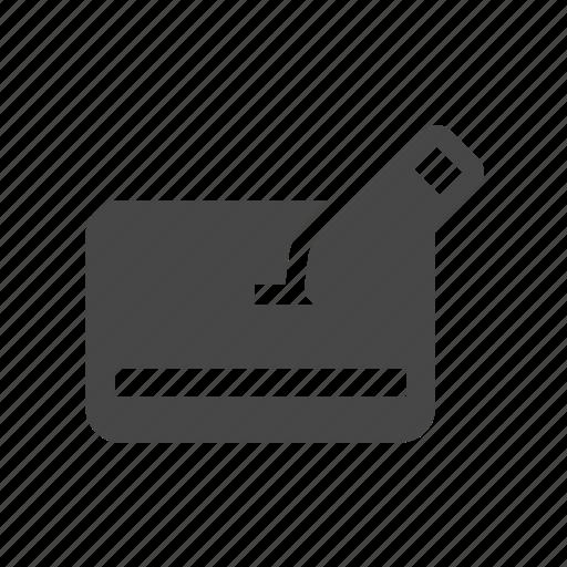credit card, pencil, write icon