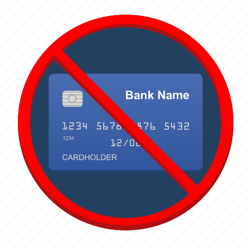 cancel, card, credit, delete, shopping icon