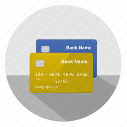 blue, card, credit, gold, money, pay icon