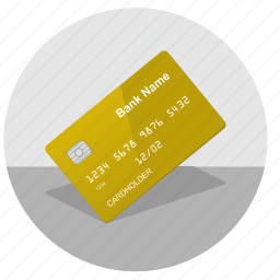 card, chip, credit, gold, nfc, pay icon