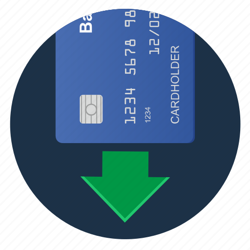 card, credit, insert, terminal icon