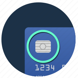 card, chip, credit, nfc, pay icon