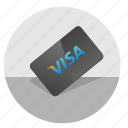 card, credit, money, pay, visa icon