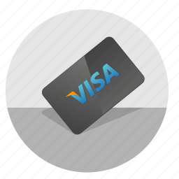 card, credit, money, pay, visa icon