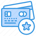 banking, buy, credit card, money, payment, star icon