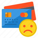banking, buy, credit card, money, payment, sad