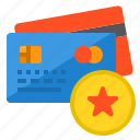 banking, buy, credit card, money, payment, star