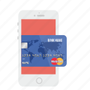 card, credit, mastercard, mobile payment, online, payment, store icon