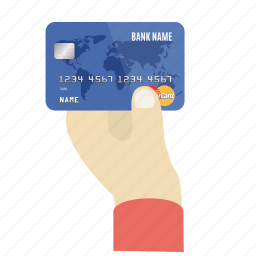 card, credit, credit card in hand, debit, mastercard, payment, store icon