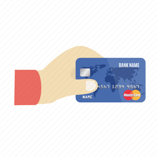 card, charge, credit, credit card in hand, mastercard, online, payment icon