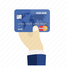 card, credit, debit, hand, mastercard, pay, payment icon