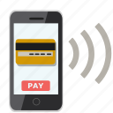 card, credit, mobile payment, online, pay, payment, store icon