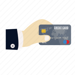 boss, card, credit, credit card in hand, pay, payment, store icon