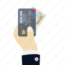 bank, card, cards, credit, credit card in hand, hand, payment