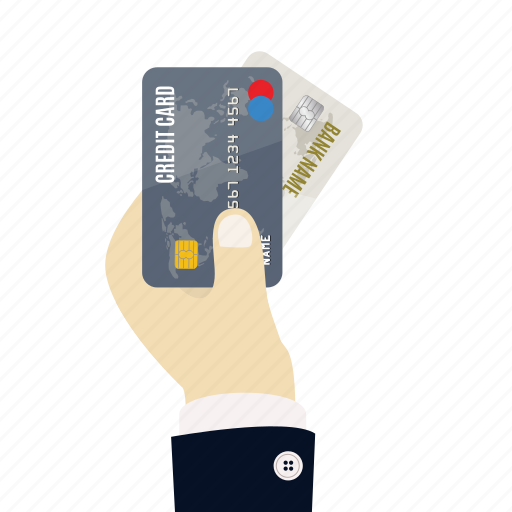 bank, card, cards, credit, credit card in hand, hand, payment icon