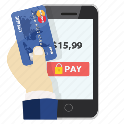 card, credit, mobile payment, online, pay, payment, safe icon