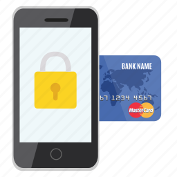 card, credit, money, padlock, protected, safe, security icon