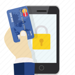 card, credit, money, online, protected, safe, security icon