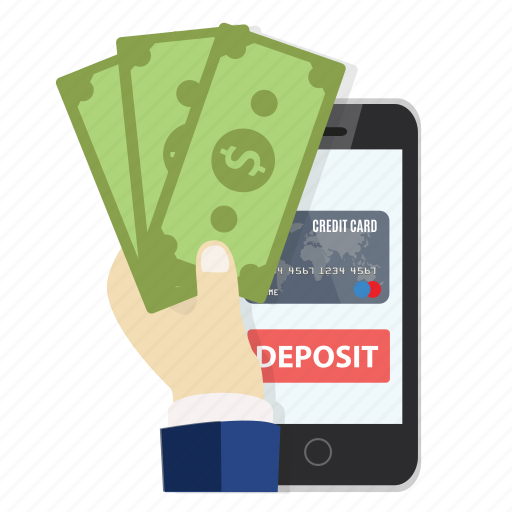 card, credit, deposit, mobile, money, online, payment icon