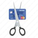 card, credit, cut, debit, mastercard, money, payment icon
