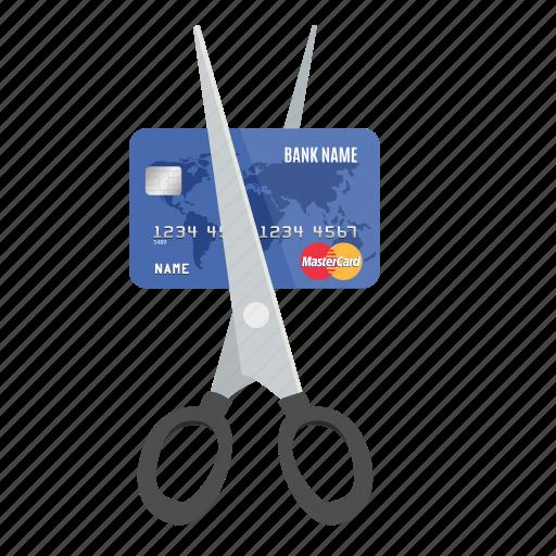 card, credit, cut, debit, mastercard, money, payment icon