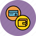 balance, banking, card, credit, debit, shopping, wallet icon