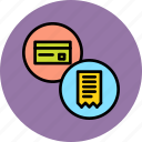 banking, bill, card, credit, debit, invoice, statement icon