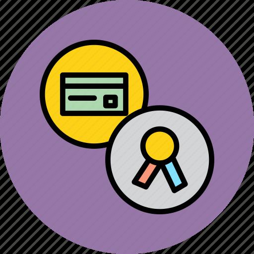 banking, card, certificate, credit, debit, secure, standard icon