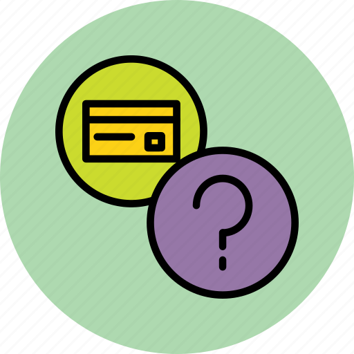 about, banking, credit card, debit card, details, help, usage icon