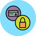 banking, card, credit, debit, funds, limit, lock icon