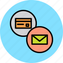 alert, banking, card, credit, debit, mail, statement icon