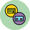 banking, card, credit, debit, gift, master, payment icon