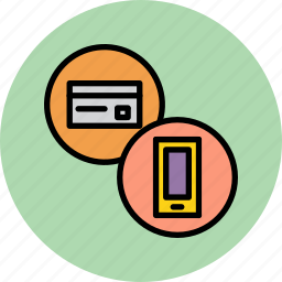 banking, card, credit, debit, mobile, online, phone icon