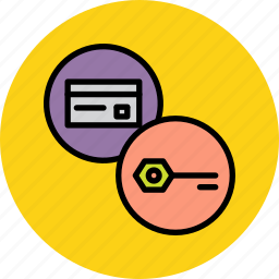 banking, card, credentials, credit, debit, passward, pin icon