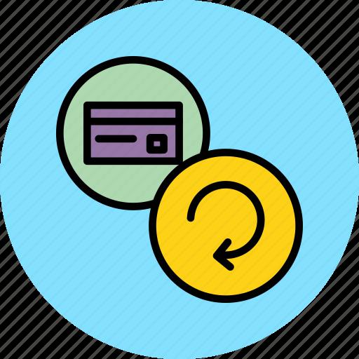 banking, card, credit, debit, refresh, renew, update icon