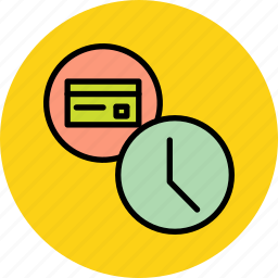 banking, card, credit, debit, due date, payment, schedule icon