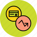 analysis, banking, card, credit, debit, report, statistics icon