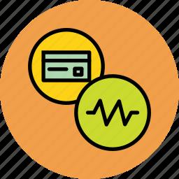 activity, banking, card, credit, debit, recent, status icon