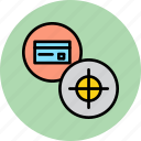 banking, card, credit, debit, goal, limit, target icon